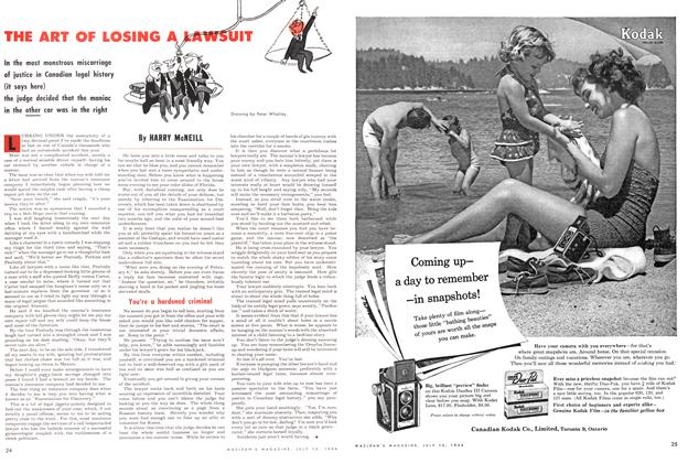 Article Preview: THE ART OF LOSING A LAWSUIT, July 1954 | Maclean's