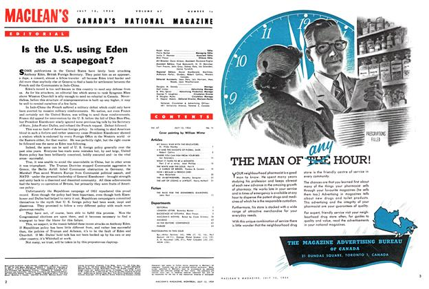 Article Preview: Is the U.S. using Eden as a scapegoat?, July 1954 | Maclean's