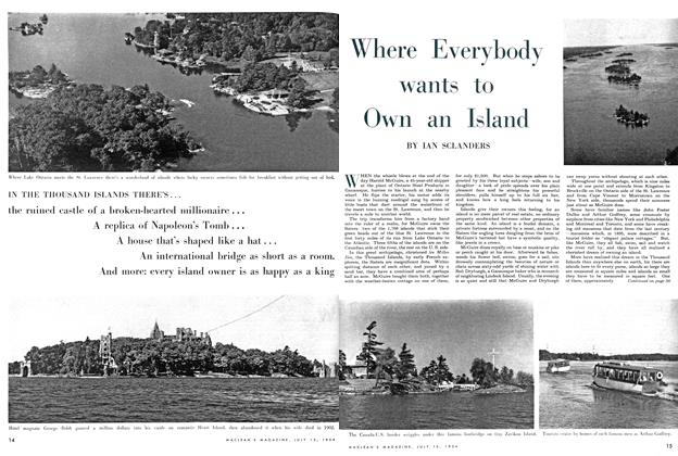 Article Preview: Where Everybody wants to Own an Island, July 1954 | Maclean's