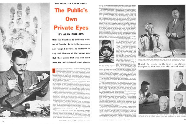Article Preview: The Public's Own Private Eyes, August 1954 | Maclean's