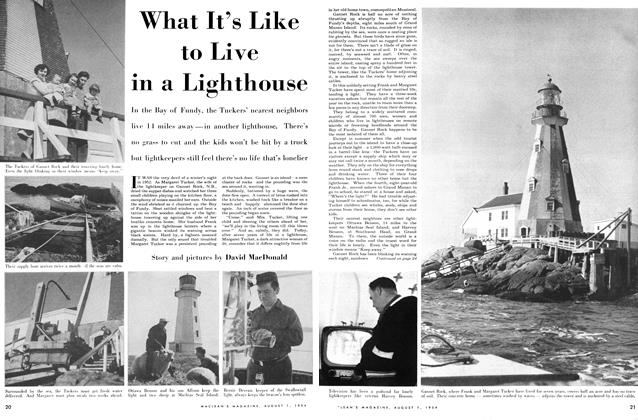 Article Preview: What It's Like to Live in a Lighthouse, August 1954 | Maclean's