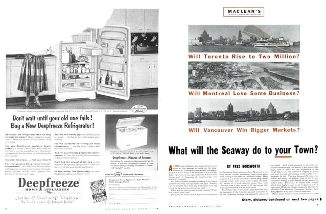 Article Preview: What will the Seaway do to your Town?, August 1954 | Maclean's