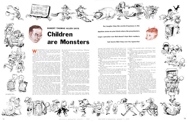 Article Preview: Children are Monsters, August 1954 | Maclean's