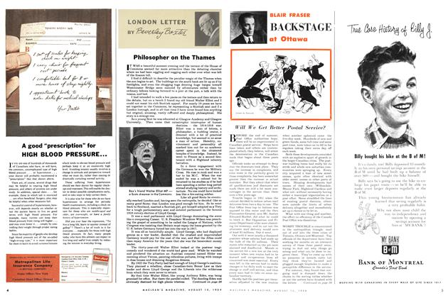 Article Preview: LONDON LETTER, August 1954 | Maclean's