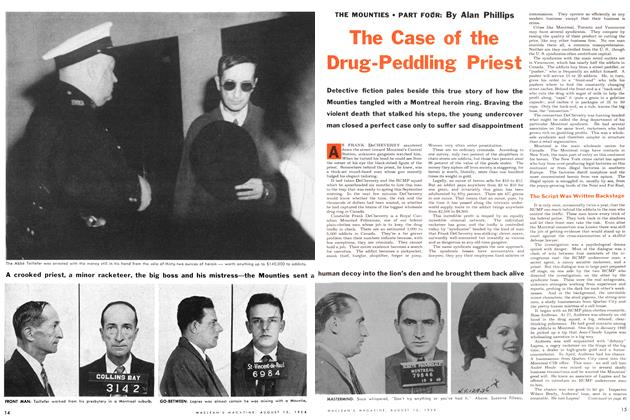 Article Preview: The Case of the Drug-Penddling Priest, August 1954 | Maclean's