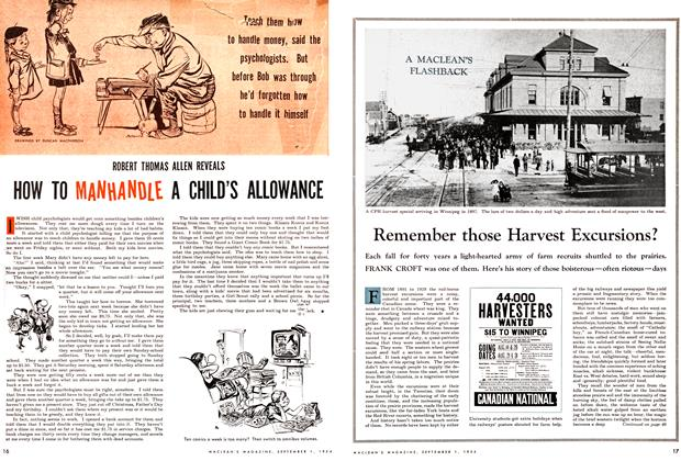 Article Preview: Remember those Harvest Excursions?, September 1954 | Maclean's