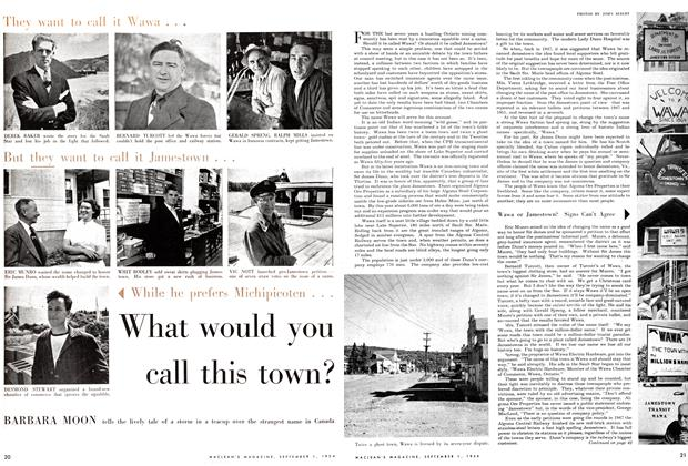 Article Preview: What would you call this town?, September 1954 | Maclean's