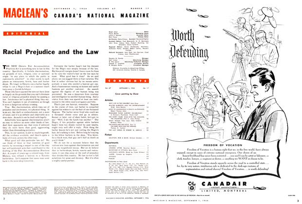 Article Preview: Racial Prejudice and the Law, September 1954 | Maclean's