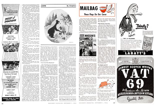 Article Preview: MAILBAG, September 1954 | Maclean's