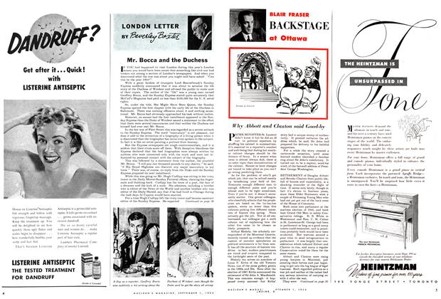 Article Preview: Mr. Bocca and the Duchess, September 1954 | Maclean's