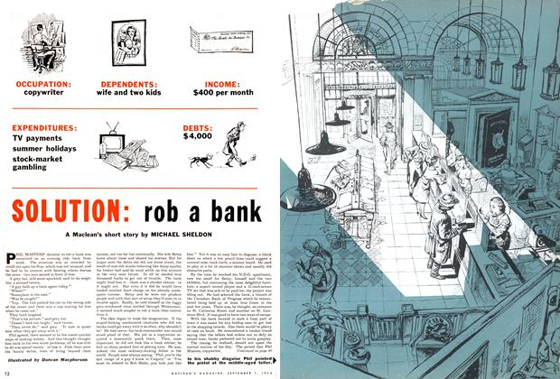 Article Preview: SOLUTION: rob a bank, September 1954 | Maclean's