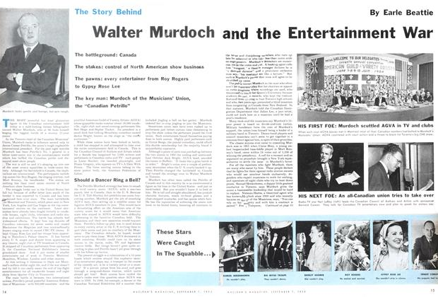 Article Preview: Walter Murdoch and the Entertainment War, September 1954 | Maclean's