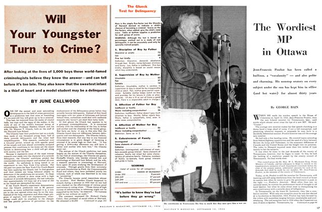 Article Preview: The Wordiest MP in Ottawa, September 1954 | Maclean's