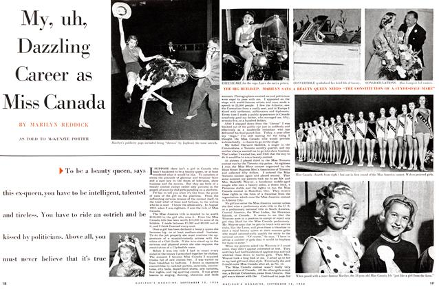 Article Preview: My, uh, Dazzling Career as Miss Canada, September 1954 | Maclean's
