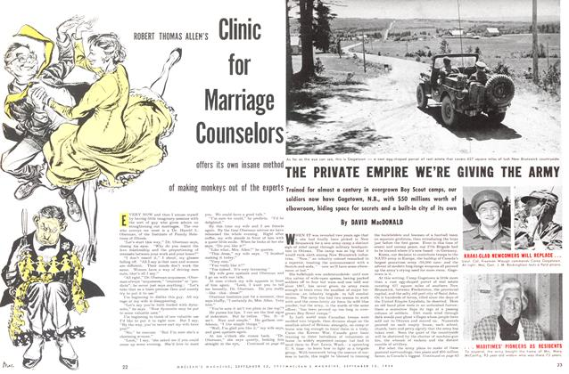 Article Preview: THE PRIVATE EMPIRE WE'RE GIVING THE ARMY, September 1954 | Maclean's