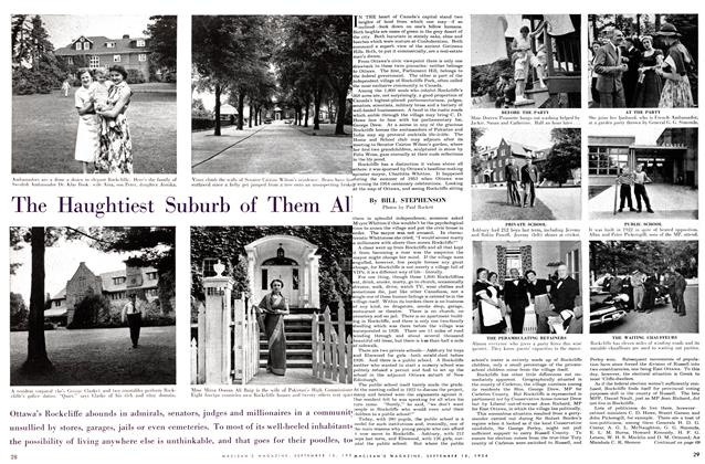 Article Preview: The Haughtiest Suburb of Them All, September 1954 | Maclean's