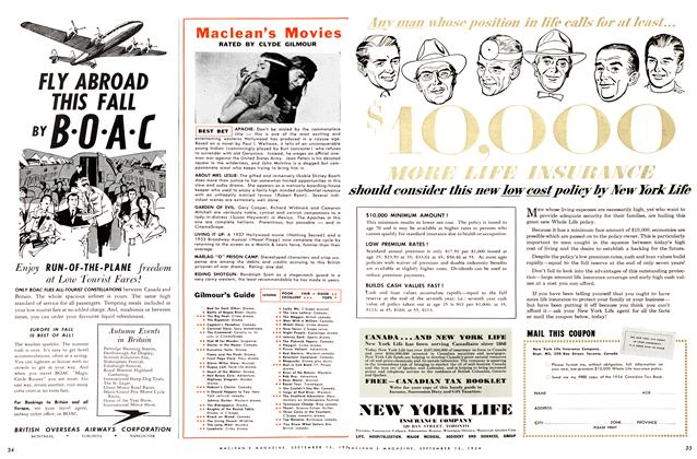 Article Preview: Maclean's Movies, September 1954 | Maclean's