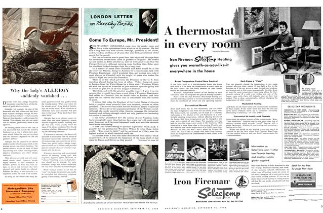 Article Preview: Come To Europe, Mr. President!, September 1954 | Maclean's