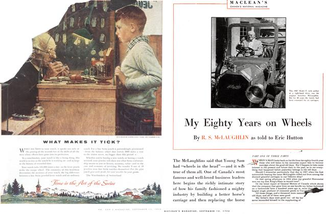 Article Preview: My Eighty Years on Wheels, September 1954 | Maclean's