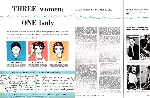 Article Preview: THREE women: ONE body, September 1954 | Maclean's