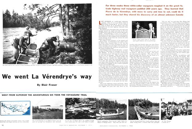 Article Preview: We went La Vérendrye's way, October 1954 | Maclean's