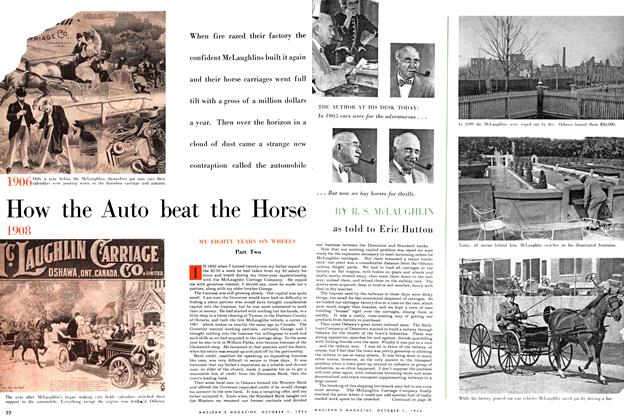 Article Preview: How the Auto beat the Horse, October 1954 | Maclean's