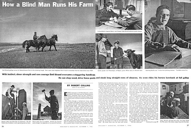 Article Preview: How a Blind Man Runs His Farm, October 1954 | Maclean's
