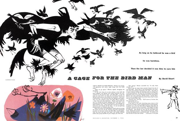 Article Preview: A CAGE FOR THE BIRD MAN, October 1954 | Maclean's