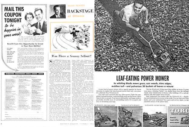 Article Preview: Was There a Seaway Sellout?, October 1954 | Maclean's