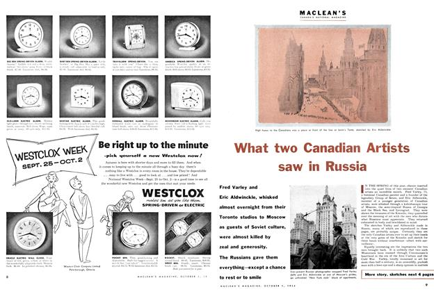 Article Preview: What two Canadian Artists saw in Russia, October 1954 | Maclean's