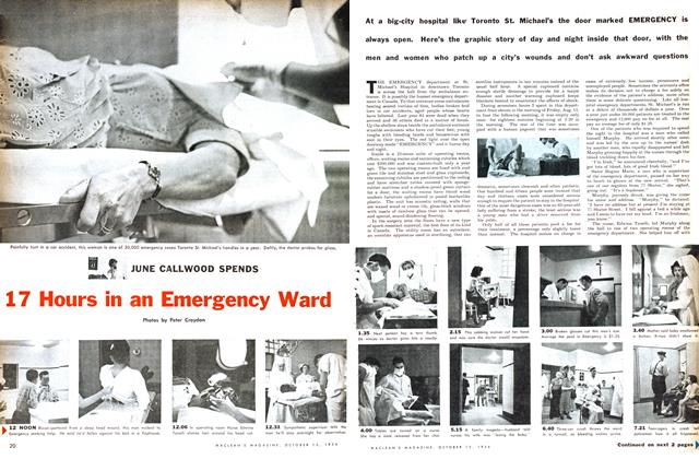 Article Preview: 17 Hours in an Emergency Ward, October 1954 | Maclean's