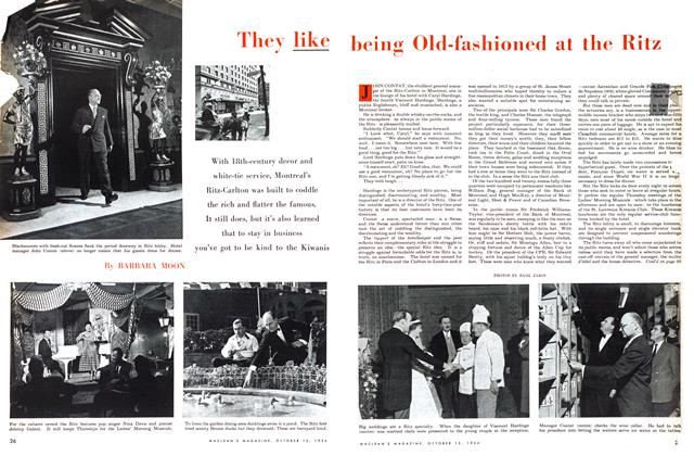 Article Preview: They like being Old-fashioned at the Ritz, October 1954 | Maclean's