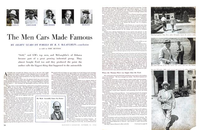 Article Preview: The Men Cars Made Famous, October 1954 | Maclean's