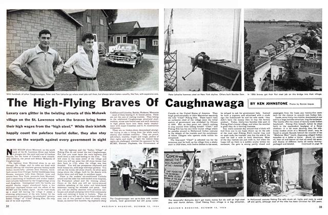 Article Preview: The High-Flying Braves Of Caughnawaga, October 1954 | Maclean's