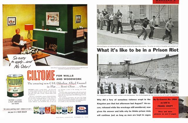 Article Preview: What it's like to be in a Prison Riot, October 1954 | Maclean's