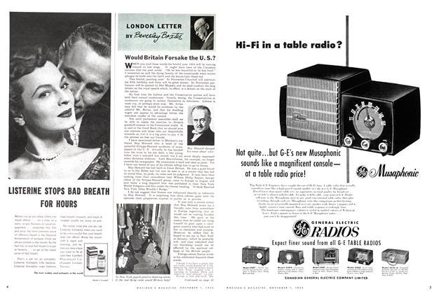 Article Preview: Would Britain Forsake the U. S.?, November 1954 | Maclean's