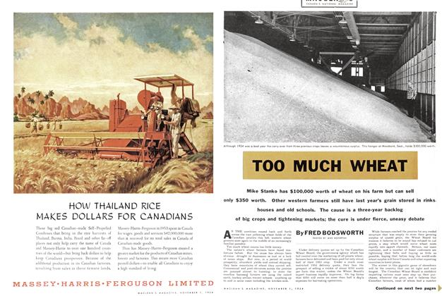 Article Preview: TOO MUCH WHEAT, November 1954 | Maclean's