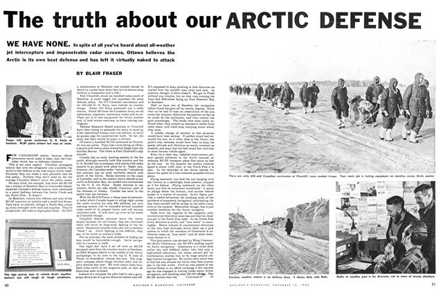 Article Preview: The truth about our ARCTIC DEFENSE, November 1954 | Maclean's