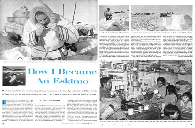 Article Preview: How I Become An Eskimo, November 1954 | Maclean's