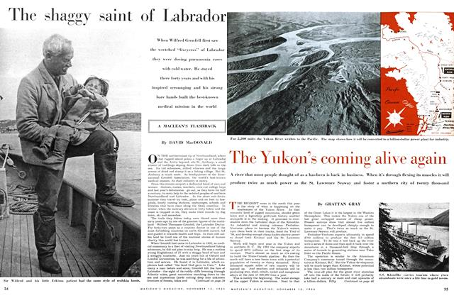 Article Preview: The Yukon's coming alive again, November 1954 | Maclean's