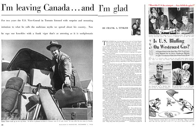 Article Preview: I'm leaving Canada... and I'm glad, December 1954 | Maclean's