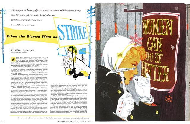 Article Preview: When the Women Went on, December 1954 | Maclean's