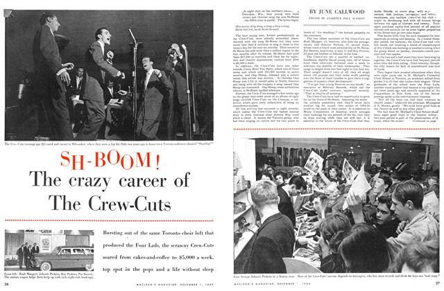 Article Preview: SH-BOOM! The crazy career of The Crew-Cuts, December 1954 | Maclean's