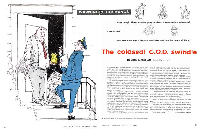 Article Preview: The colossal C.O.D. swindle, December 1954   Maclean's
