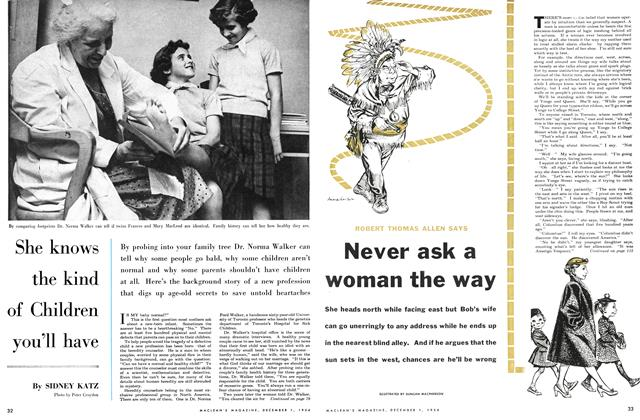Article Preview: She knows the kind of Children you'll have, December 1954 | Maclean's