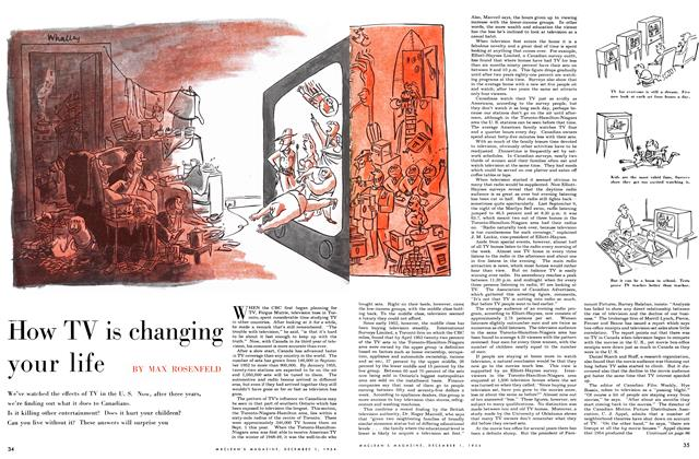 Article Preview: How TV is changing your life, December 1954 | Maclean's