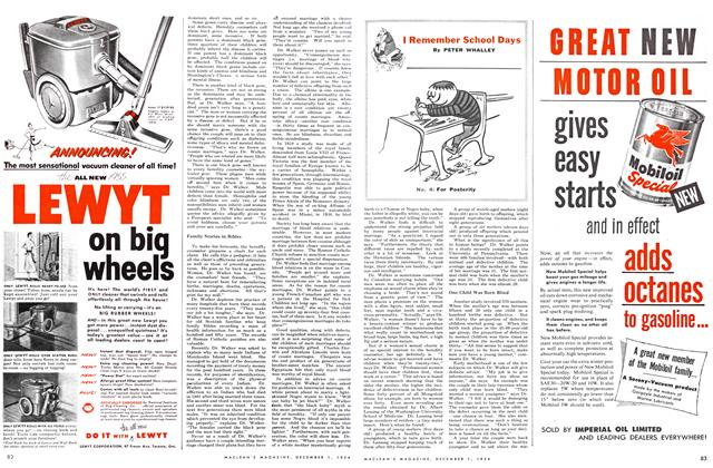 Article Preview: I Remember School Days, December 1954 | Maclean's