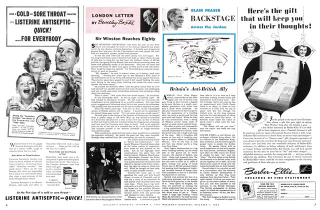 Article Preview: LONDON LETTER, December 1954 | Maclean's