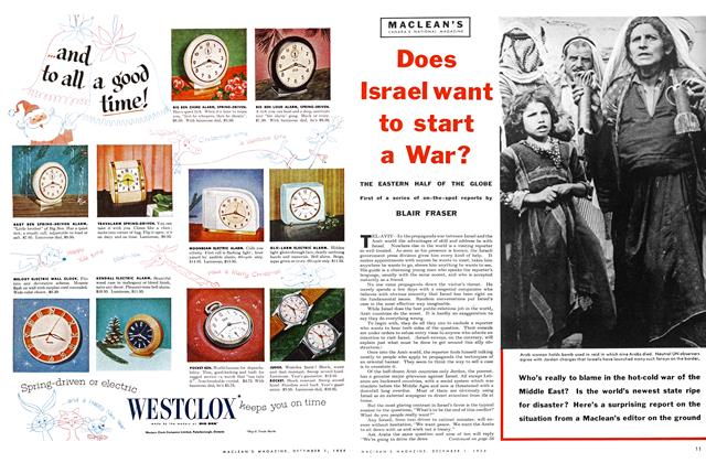 Article Preview: Does Israel want to start a War?, December 1954 | Maclean's