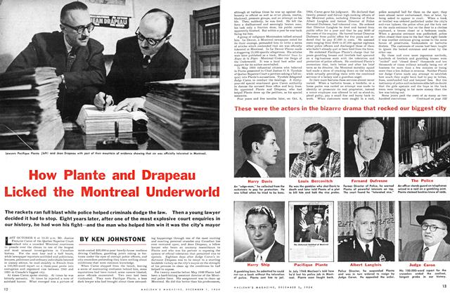 Article Preview: How Plante and Drapeau Licked the Montreal Underworld, December 1954 | Maclean's